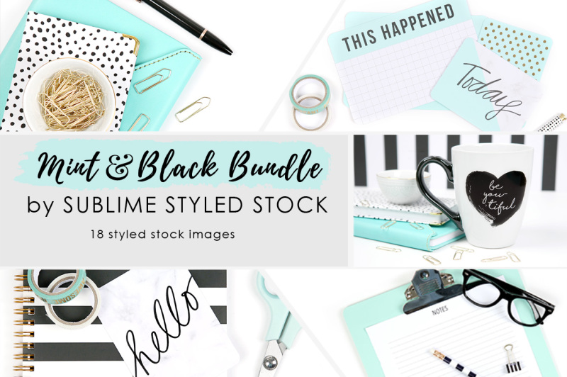 mint-and-black-bundle-of-18-images