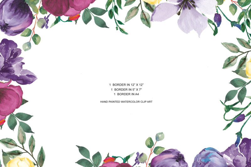 3-border-arrangements-hand-painted-watercolor-clip-art-design-resources-for-stationery-and-invite-designs