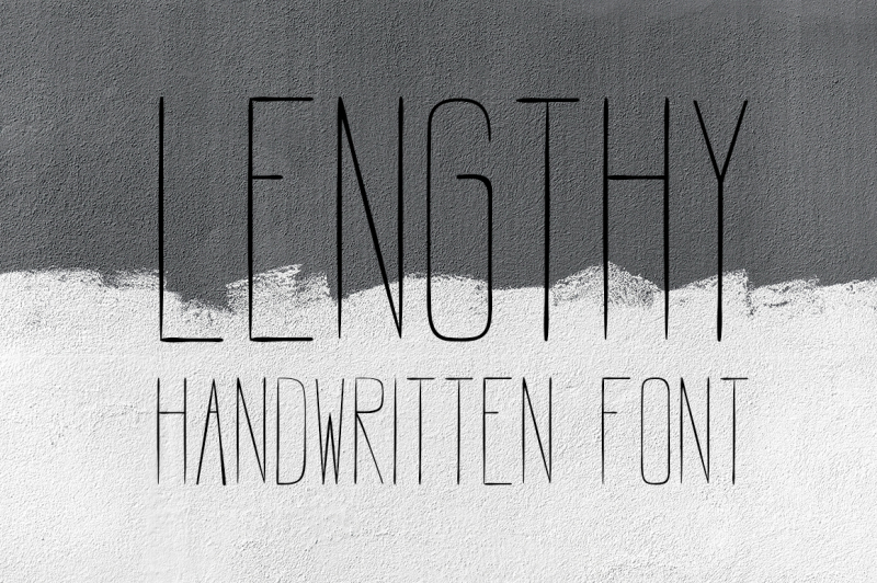 lengthy-all-caps-brush-font