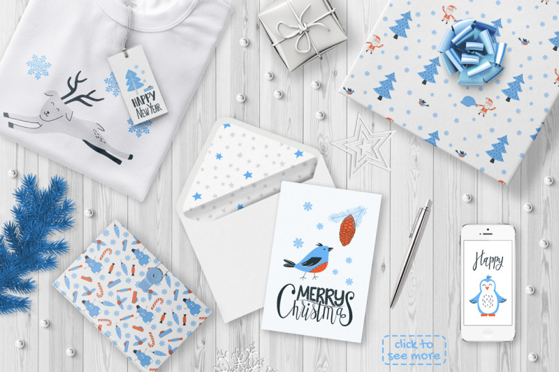 let-it-snow-clipart-and-lettering-set