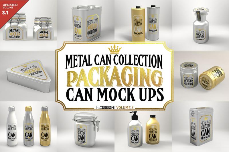 Free Metal Can Mock Ups Volume 3 (PSD Mockups)