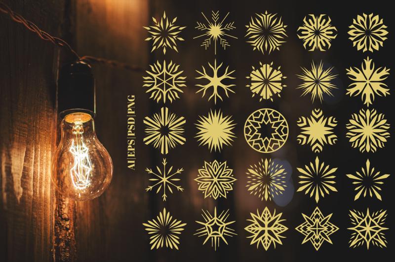 100-star-vector-ornaments