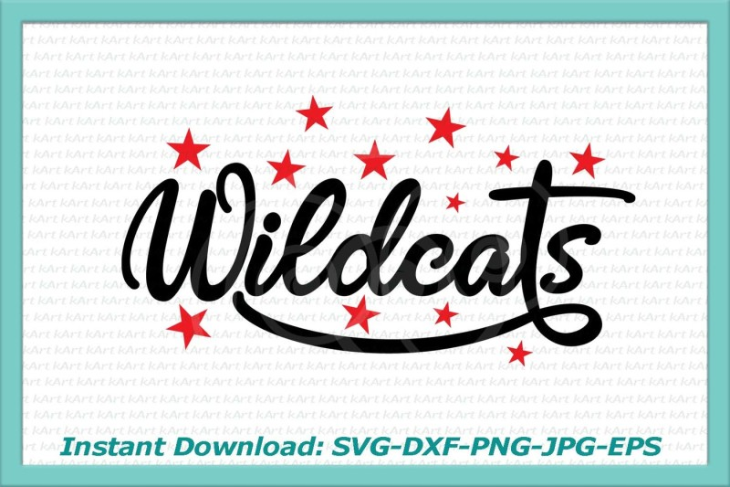 wildcats-svg-file-stars-svg-wildcats-iron-on-wildcats-printable-cats-svg-cutting-file-silhouette-wildcats-print-dxf-digital-jpeg