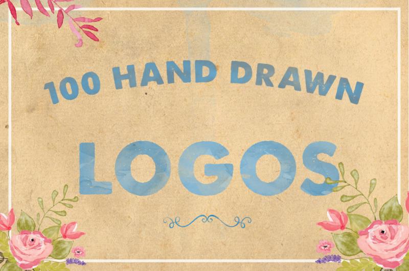 100-hand-drawn-logos