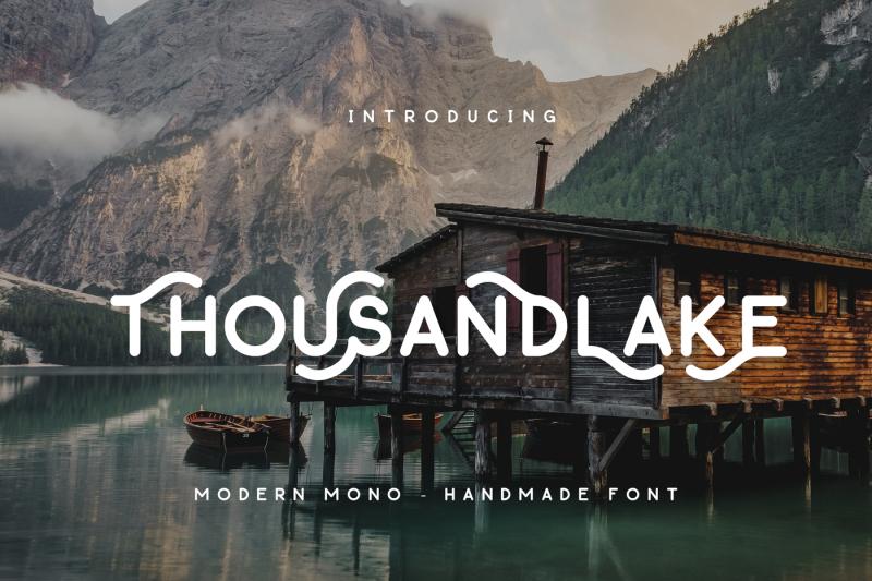 thousand-lake-handmade-font