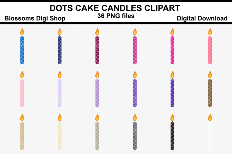 polka-dot-cake-candle-clipart-36-multi-colours-png-files