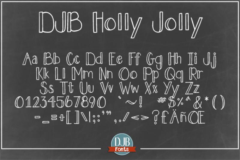 djb-holly-jolly-font