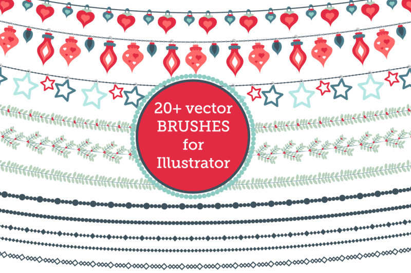 christmas-vector-brushes-and-pattern-pack