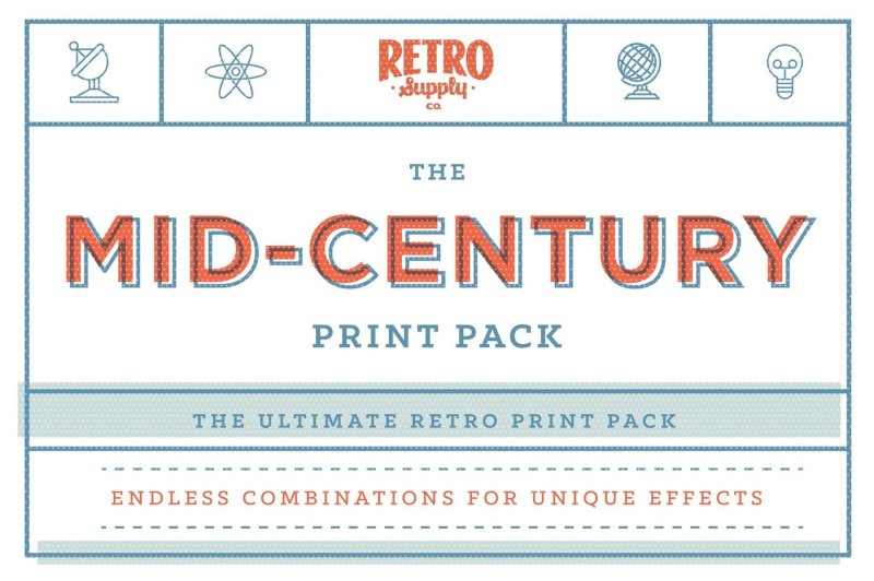 The Mid-Century Print Pack Mega Bundle By RetroSupply