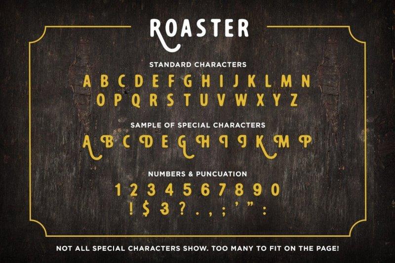 roaster-font