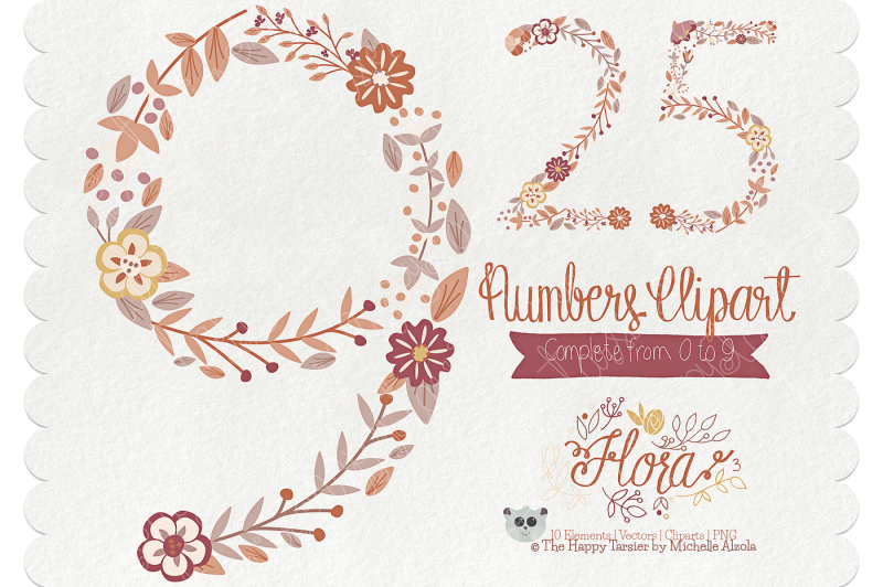 flower-numbers-clipart-flora-03-brown-and-tan-flower-floral-numbers