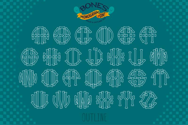 halloween-font-bones-monogram-typeface-otf-ttf