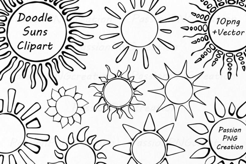 doodle-suns-clipart-digital-sun-clipart