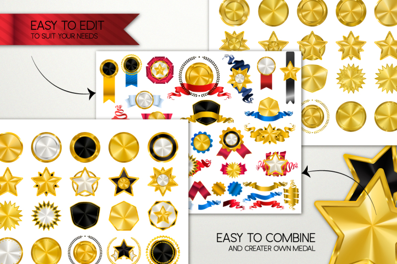 medals-big-gold-collection-tapes