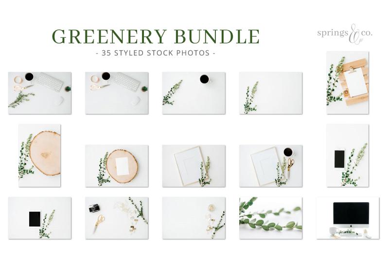 Greenery Styled Stock Photo Bundle By Springs Co Thehungryjpeg Com