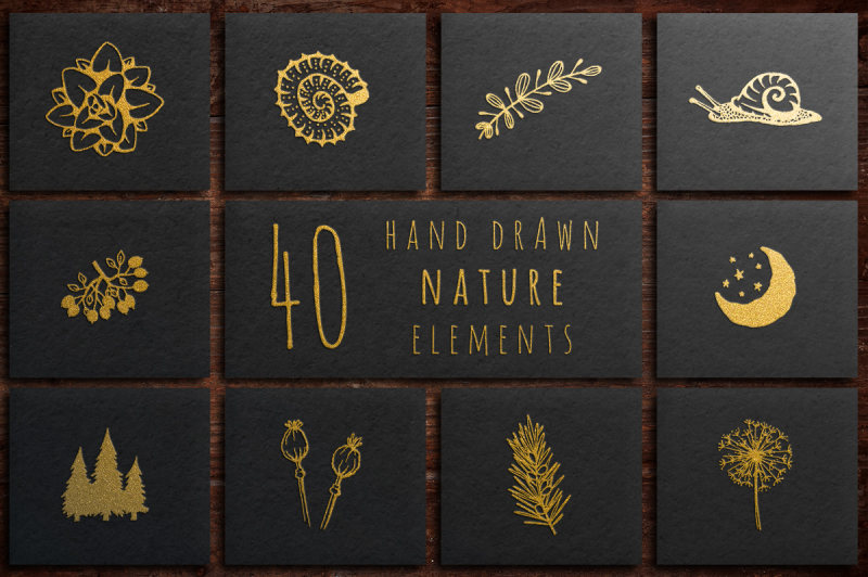 40-hand-drawn-nature-elements
