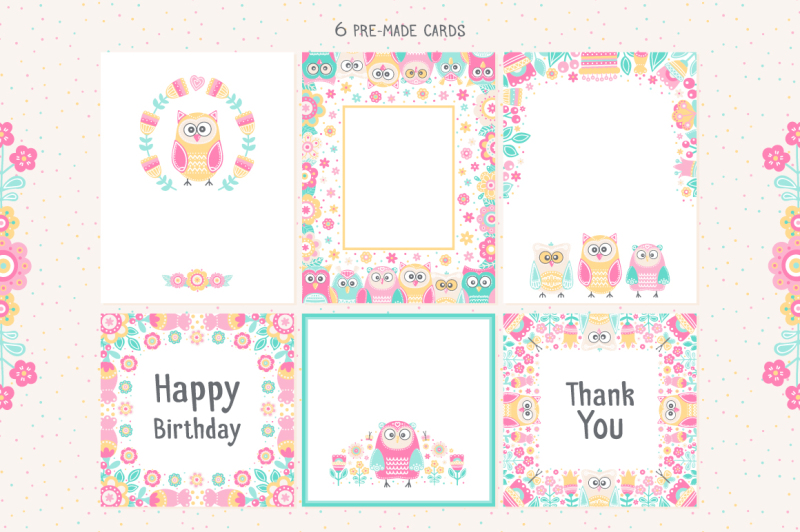 owls-and-flowers-vector-clip-art