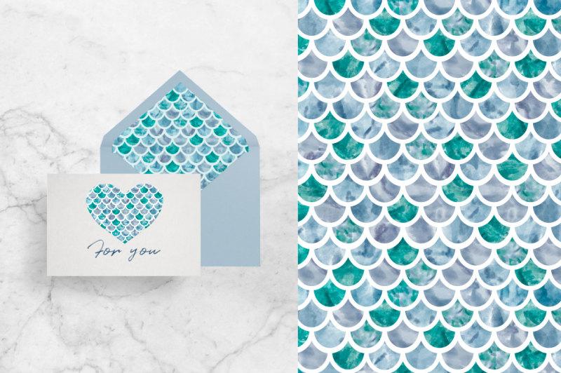 winter-geometry-pattern-set