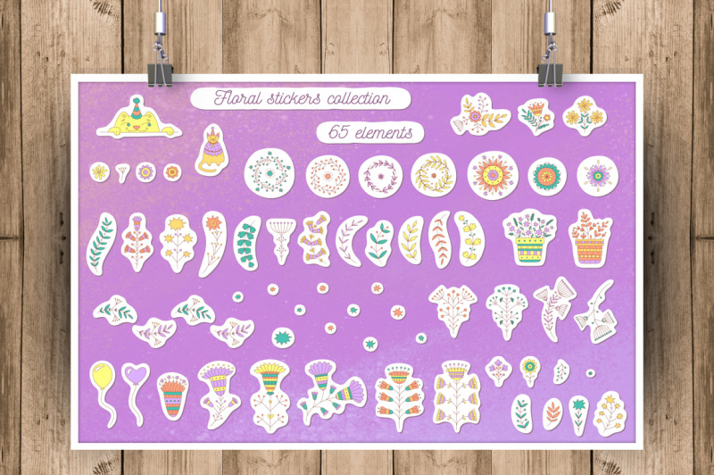 floral-stickers-collection