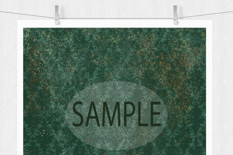 green-grunge-damask-paper
