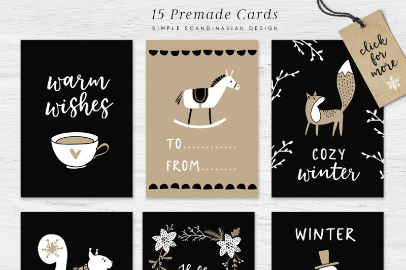 Welcome Christmas Scandinavian Illustrations Cards Patterns By