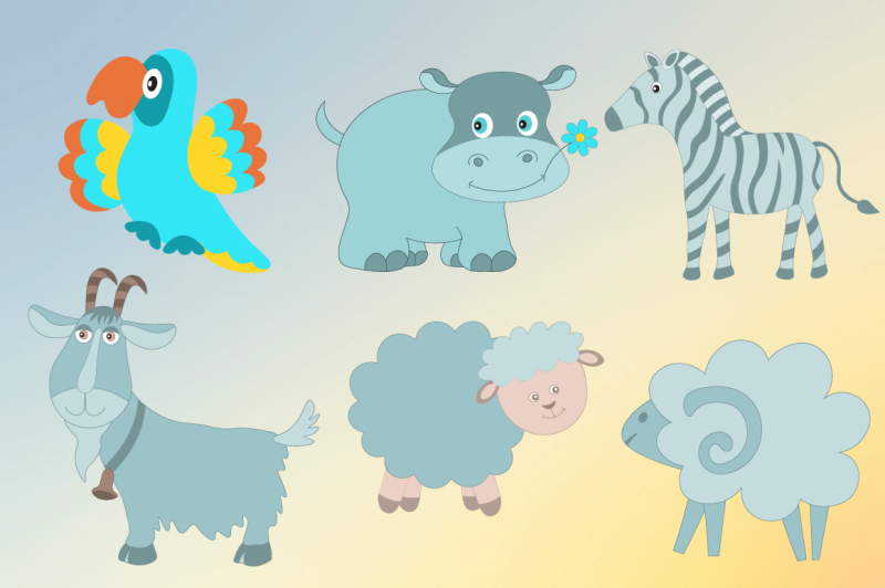 funny-animals-vector-set