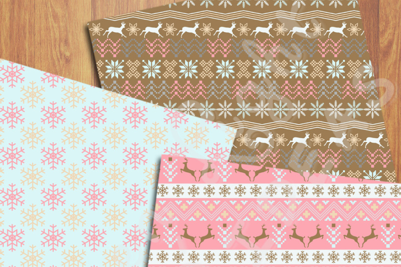 nordic-christmas-digital-papers-winter-backgrounds