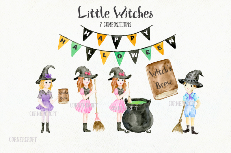 little-witches-watercolor-design-kit