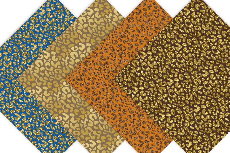 gold-and-glitter-cheetah-digital-paper