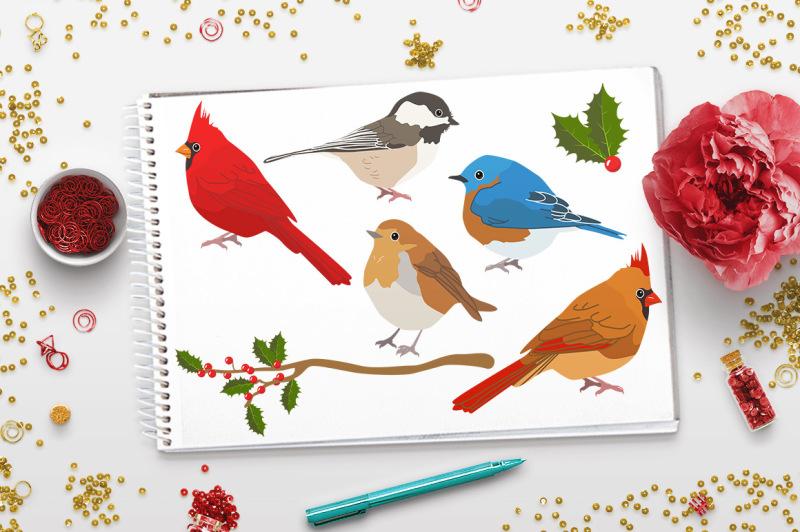winter-birds-clipart-christmas-clipart-winter-clipart-holiday-clipart-animal-clipart-rustic-christmas