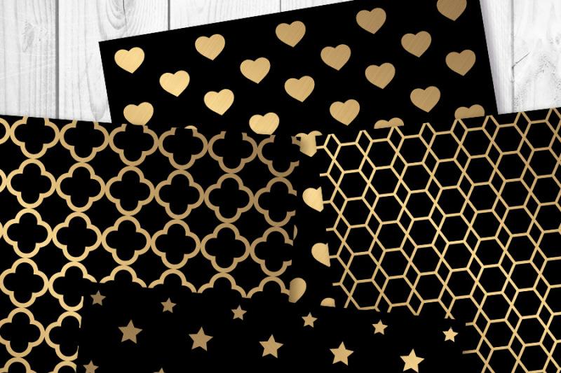black-and-gold-digital-papers-gold-foil-pattern-gold-digital-paper-gold-foil-new-year-s-eve-scrapbook-papers-quatrefoil-art-deco-paper