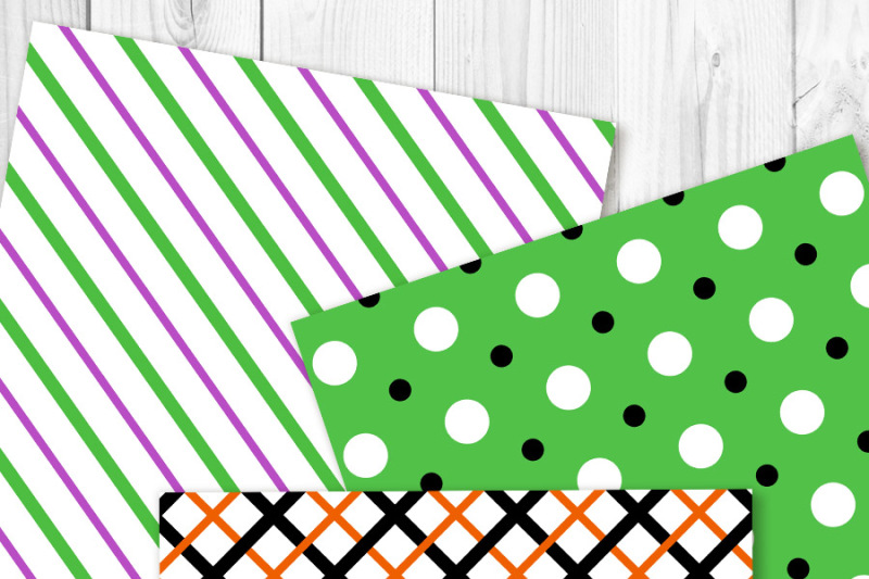 halloween-digital-paper-black-and-orange-backgrounds-green-and-purple-patterns-spooky-scrapbook-paper