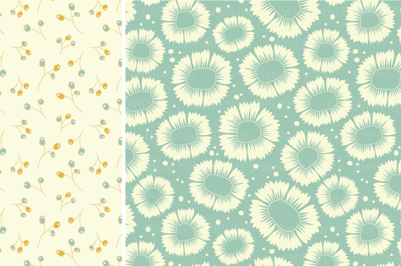 spring-floral-patterns-and-papers-vector