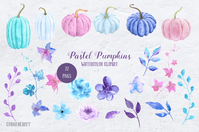 watercolor-pastel-pumpkins