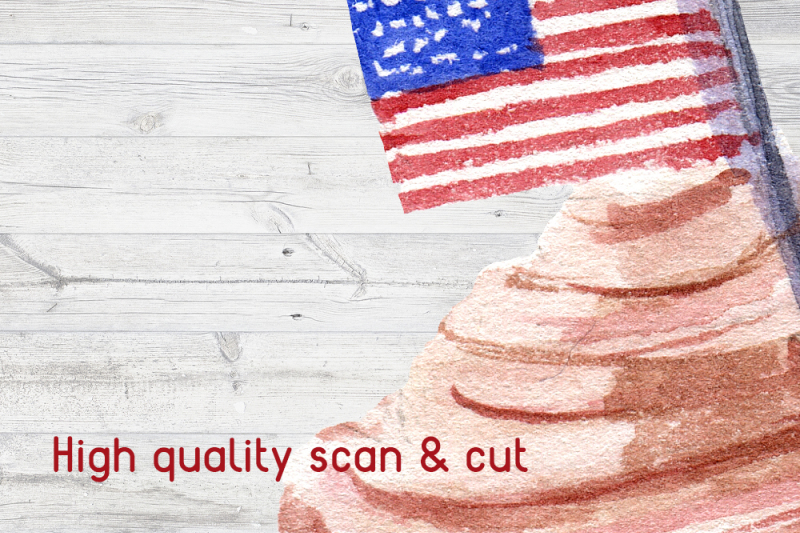 4th-of-july-watercolor-clipart-set