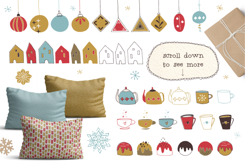 cozy-christmas-hand-drawn-set