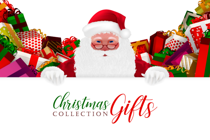 christmas-gifts-set-and-santa-claus