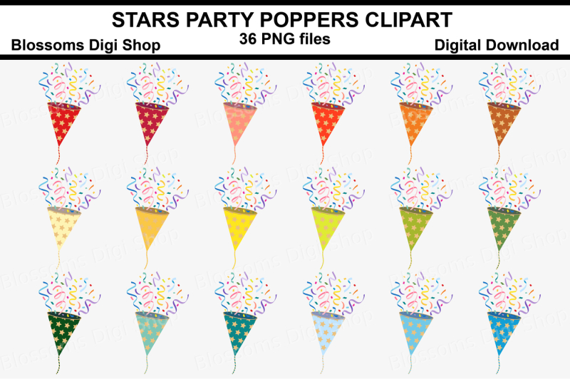 stars-party-poppers-clipart-36-multi-colours-png-files