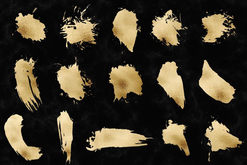 gold-smear-clipart
