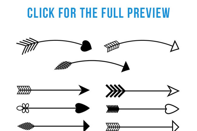 90 Arrows Clipart Mega Bundle Tribal Arrow Clipart Rustic Arrow