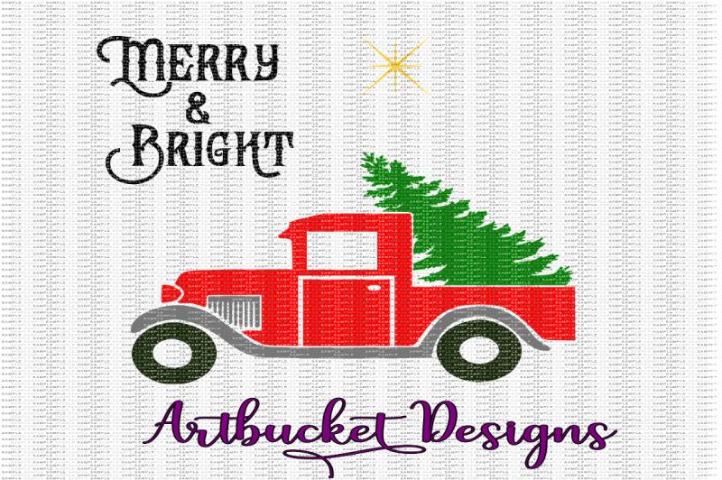 merry-and-bright-christmas-truck-cutfile