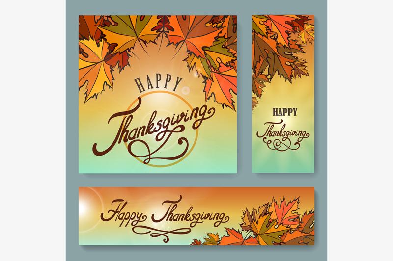 happy-thanksgiving-day-background-set