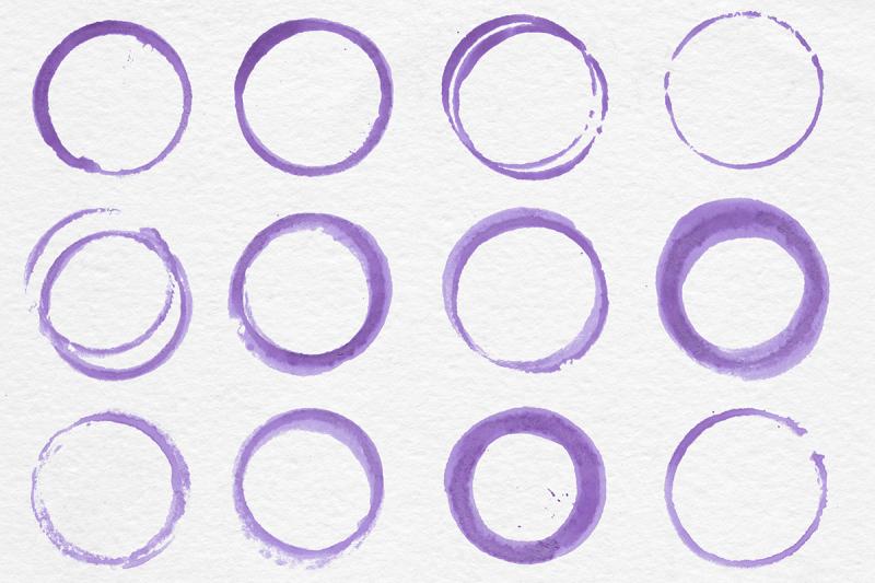 purple-circles-aquarelle-rings