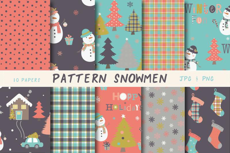 pattern-snowmen