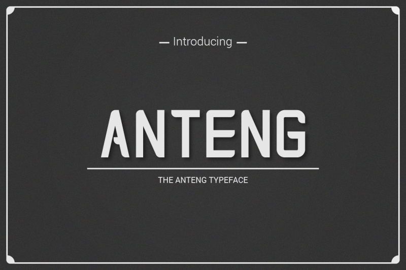 anteng-dual-width-font