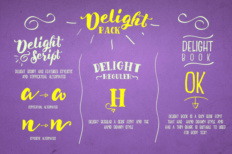 delight-font-pack-and-extra
