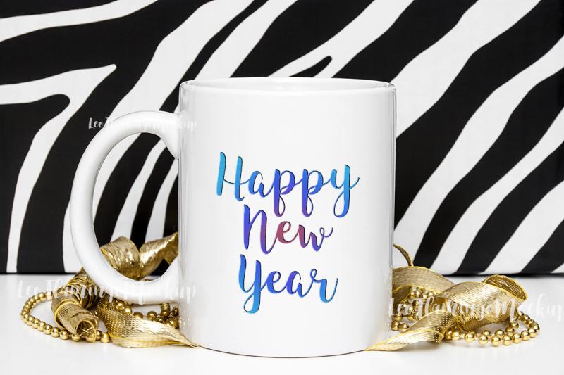 Free White coffee mug mockup safari new year's mock up (PSD Mockups)