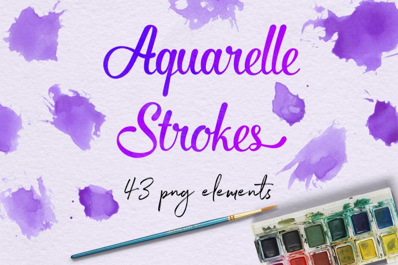 purple-aquarelle-smears