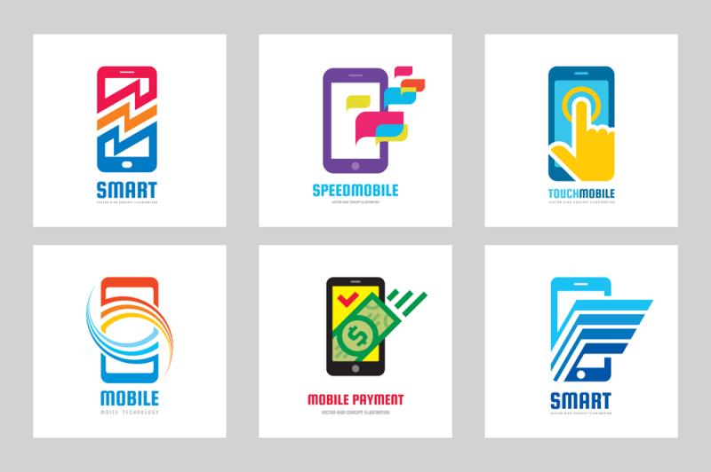 mobilephone-smartphone-logo-set