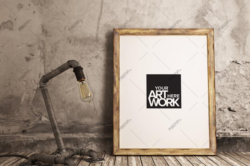 Free Poster Mockup Industrial Pipe (PSD Mockups)